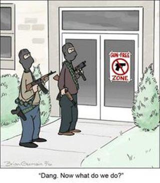 Criminals don't care about gun free zones